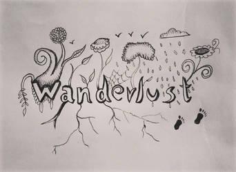Wanderlust drawing by ashilraj