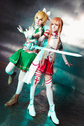 Cosplay, Asuna and Lyfa - Sword Art Online by YukinoSuzumi