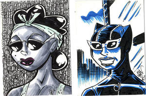 Sketchcards Ladies by drawhard