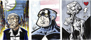 Sketchcards Tre Amigos by drawhard