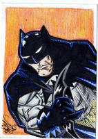 Sketchcard Batman by drawhard