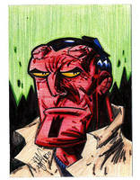 Sketchcard Hellboy by drawhard