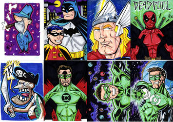Some More Sketch Cards by drawhard