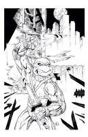 TMNT LEONARDO inks by drawhard