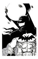 BATMAN b/w by drawhard