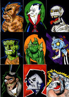 MONSTER SKETCH CARDS by drawhard