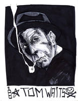 TOM WAITS by drawhard