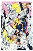 THOR vs FROST GIANTS by drawhard