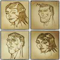 4 FACES  by drawhard