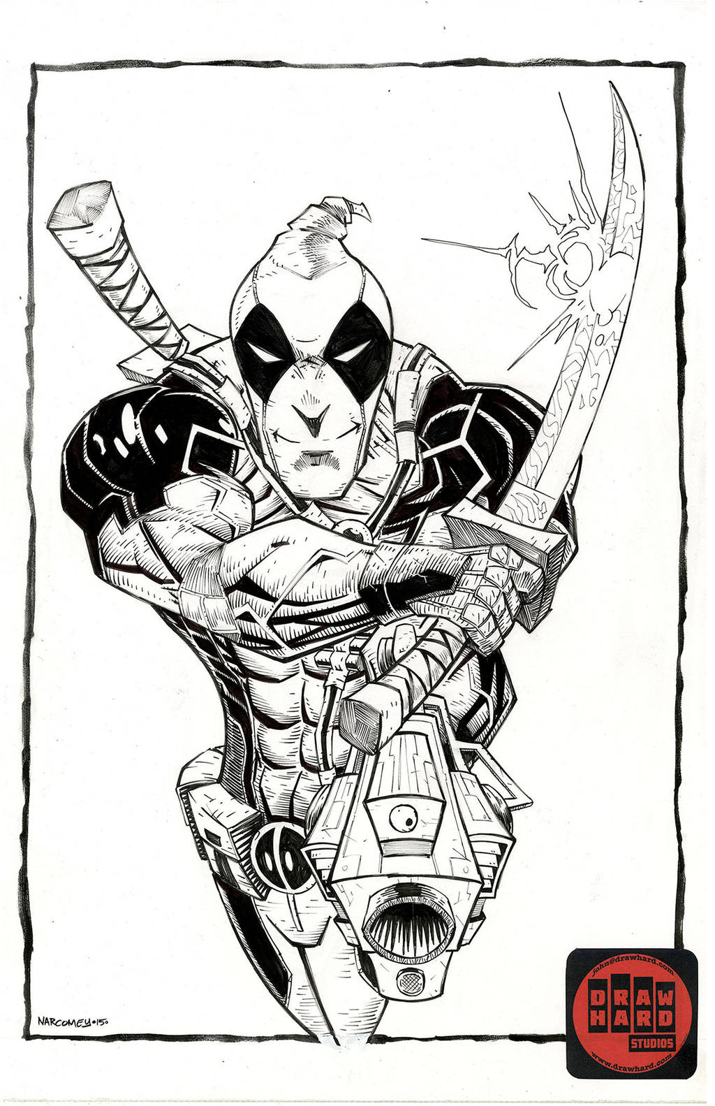 DEADPOOL illo by drawhard