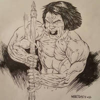 CONAN THE BARBARIAN  by drawhard