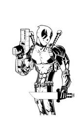 DEADPOOL line art by drawhard