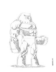 JUGGERNAUT pencils  by drawhard