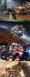 Space Clash TCG artwork by sensevessel