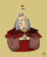 Iroh loves his tea. by lordofmeesi