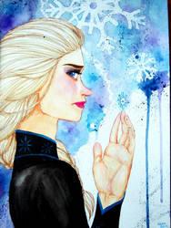 Elsa- Frozen by Likeflowerinthefield