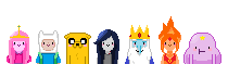 Adventure Time Pixel Portraits by madokamagikarp