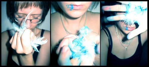 blue bird bloody triad by Luincir