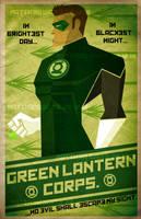 Green Lantern constructive art by waitedesigns