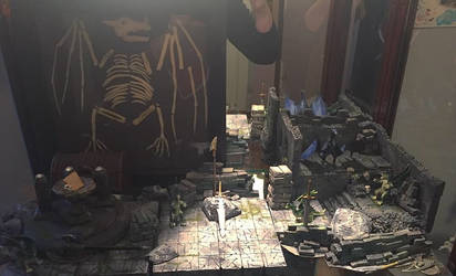 Dungeons and dragons 3D set by AvaWerewolf