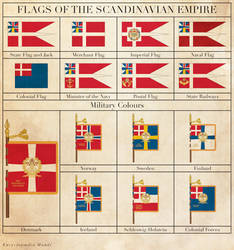 Flags of the Scandinavian Empire by Regicollis