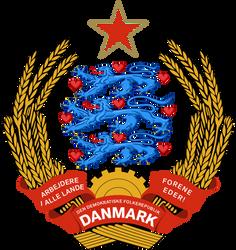 Coat of arms of communist Denmark by Regicollis
