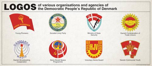 Communist Denmark - Logos of various organizations by Regicollis