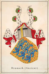 Coat of arms of Denmark (ancient) by Regicollis
