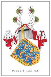 Coat of arms of Denmark (ancient) - clean version by Regicollis