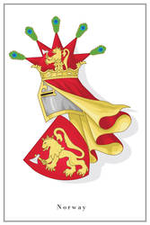 Coat of arms of Norway - clean version by Regicollis