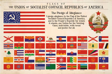 National and State Flags of Communist America by Regicollis