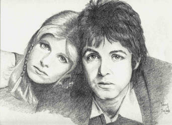 Paul and Linda McCartney by TerryXart
