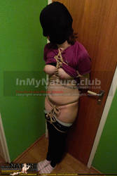 Samantha tied up standing shibaristyle by InMyNature-CLUB