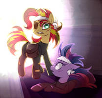 Future Sunset and Twilight by JumbleHorse