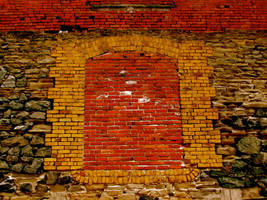 old brick building wall by owlbird