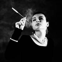 Cigarette Smoking Girl by FotobyVarvar