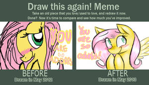 Draw this again -Fluttershy by blup-chan