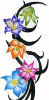 Flower Tattoo by DirtyD41