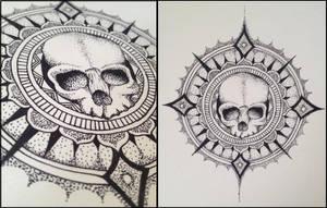 Skull Mandala by KbunnyTheReckless