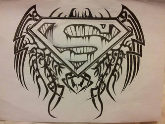 Superman Logo Tribal Wings By Itsonlyanny On Deviantart