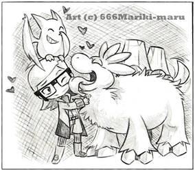 Sketch ++ Magma's love ++ by 666Mariki-maru
