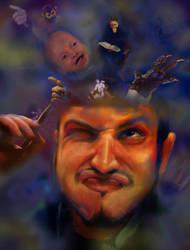 Creative Explosion! (Self-Portrait) by LachlanKadick