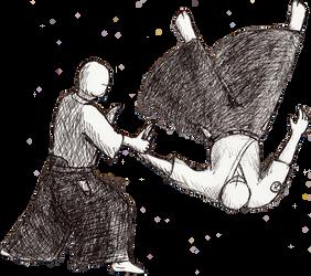 Aikido throw 2 by LachlanKadick