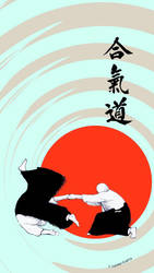 Aikido Roll (iPhone Wallpaper) by LachlanKadick
