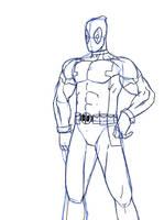 Deadpool Sketch by SJWebster