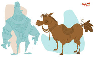 a guy and his horse by SomethingEveryDay