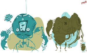 2 and a half robots by SomethingEveryDay