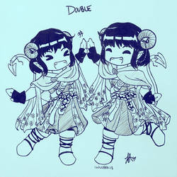 INKTOBER 2018 - DAY 29: Double by zoro4me3