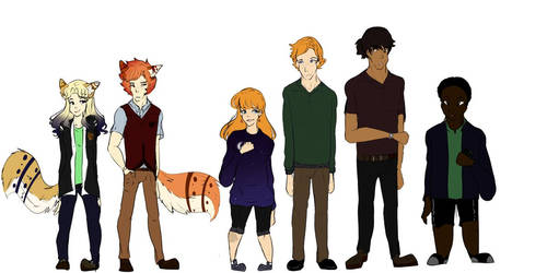 Posh boi n other main characters I guess // OCs by Pachycephalosauria