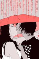 Love Under Umbrella by monkeymintaka